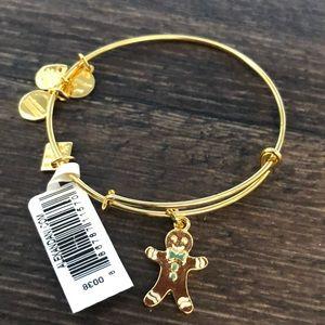 NWT Alex and ani gingerbread man bracelet
